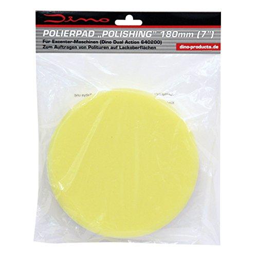 Dino Polierschwamm 180mm X 30mm Polierpad medium für Polierteller mit Klett ab 150mm für Auto Politur Polierpaste
