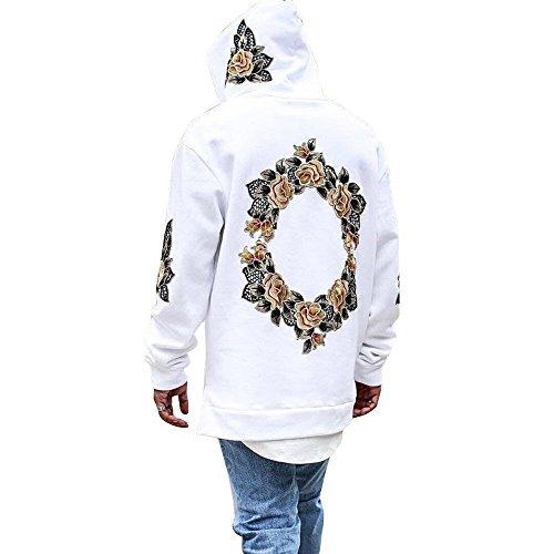 JYJM Herren Printed Pullover Jacke Herren Kapuzen Pullover Jacke Herren Print Jacke Herren Dicker Pullover Herren Mode Wilde Jacke Herren Casual Hoodie Herren Cooles Hemd Herren Jacke