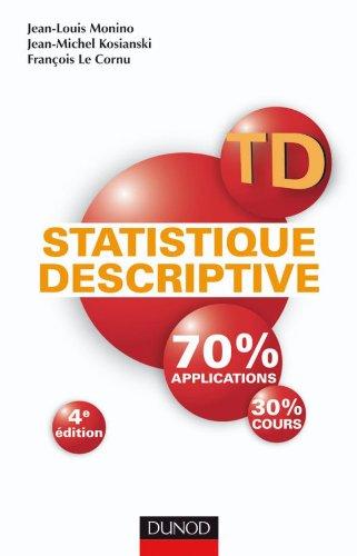 TD de statistique descriptive - 4e édition
