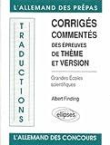 DES EPREUVES DE THEME ET VERSION GRANDES ECOLES SCIENTIFIQUES