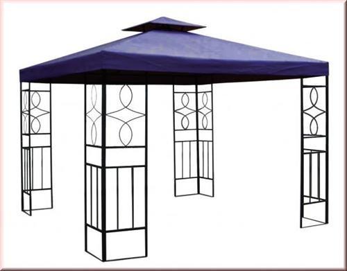 WASSERDICHTER Pavillon 3x3m Blau ROMANTIKA Metall inkl. Dach Festzelt wasserfest Partyzelt