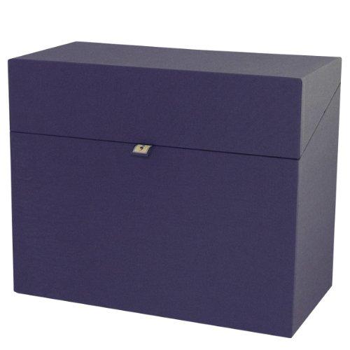 private-karteibox-leinen-marine-neu-wasserabweisendes-buchleinen-sammelbox-aufbewahrungsbox-semikolo