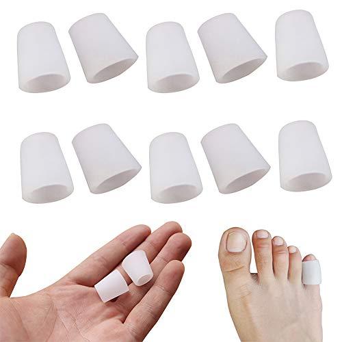 Zehen FingerSchutz, Konesky 10 Paar Zehen Röhren Finger Abdeckung Silikon-ZehenSchutz-Gel-Hülse Blisters Corrector für Corns Remover Callus Kissen bunion Behandlung