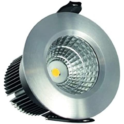 Inclinación ajustable Integral LED/4,5 W (20 W) 3000 K 250 lm 54 mm cut-out brightlightz aluminio cepillado acabado. 29 degree Ángulo de haz 4.5 wattsW