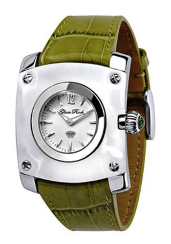 Glam Rock Watch GR50003 - Reloj de Mujer de Cuarzo, Correa de Piel Color Verde