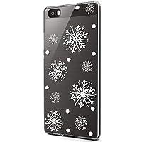 Handytasche Huawei P8 Lite 2016 Weihnachten Handyhülle Durchsichtig Schutzhülle Silikon Dünn Case Transparent Handyhüllen Kirstall Clear Case Etui TPU Bumper Schale,Schneeflocke