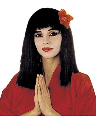 Geisha Girl Kostüm Perücke - Horror-Shop China Girl Perücke schwarz