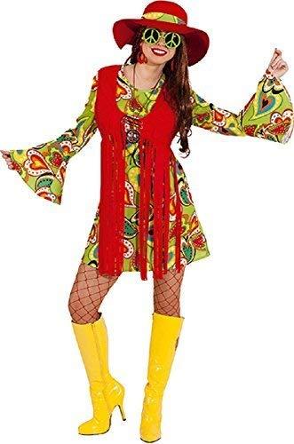 Fancy Me Damen Vintage hell bunt Föhlich Hippie Hippy 1960s Jahre 1970s Henne Do Abend Party Kostüm Kleid Outfit - Multi, UK 14 (EUR 42)