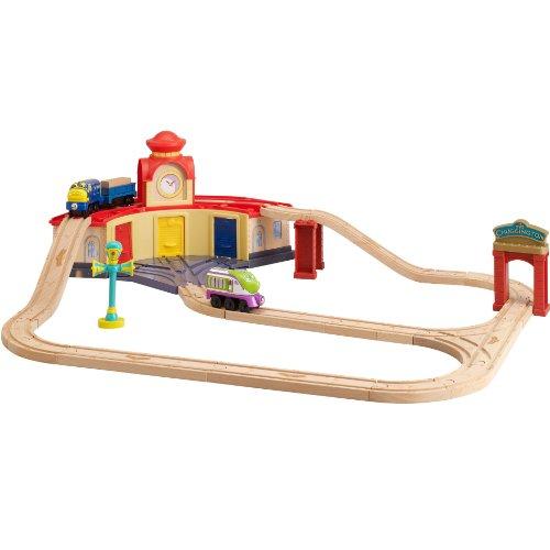 Tomy Chuggington - Lc56703 - Circuit de Trains Miniatures et Rails - La Rotonde des Stagiaires