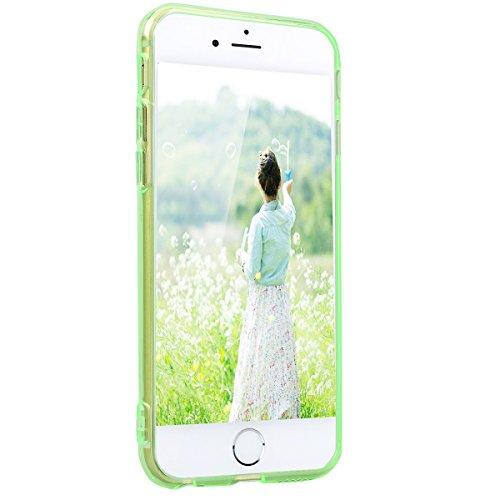 HB-Int Case per Apple iPhone 6S Plus / Apple iPhone 6 Plus Farfalla Cover Flessibile TPU gel Silicone Custodia Apple iPhone 6S Plus / Apple iPhone 6 Plus Caso Copertura Ultra Sottile Protettiva Shell  Verde