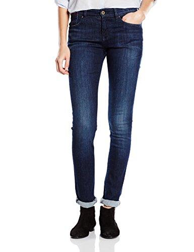 Tommy Jeans Hilfiger Denim Damen Slim Jeanshose Mid rise Naomi DAST, Gr. W25/L34, Blau (DA Preisvergleich