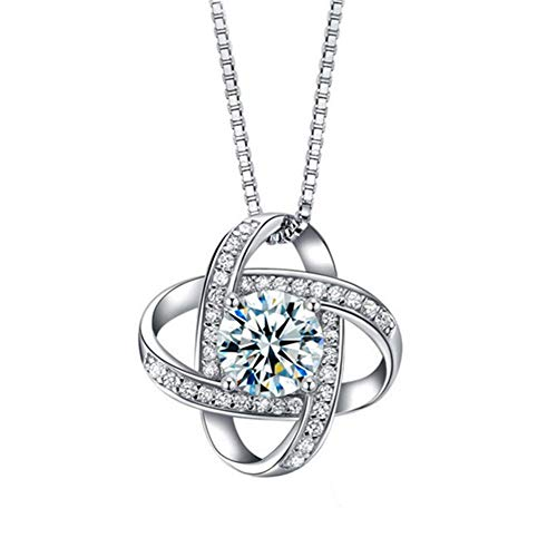 CC.Stars S925 Sterling Silber Blume und Gras Micro-Inlay Diamant Anhänger Halskette -