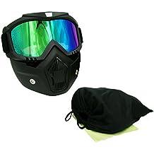 EKIND táctico Paintball máscara | Retro Harley Motocicleta Gafas con máscara de extraíble | máscara de Airsoft Gafas de seguridad UV400protección para pistola de juguete de Nerf N-strike Elite juego Rival bola