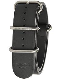 Bertucci b-202nl–E-Type G-10Raven negro piel de vacuno 22mm banda de reloj