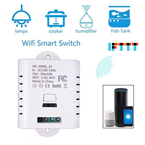 Fcostume Intelligentes WLAN Nachrüstung Einschalten Kontroll-Zeitlampe Für Google Home/Alexa (Weiß)