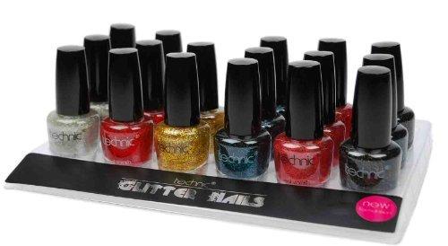 new-technic-glitter-nails-set-of-6-includes-bonanza-lustre-christmas-cracker-party-pink-celebration-