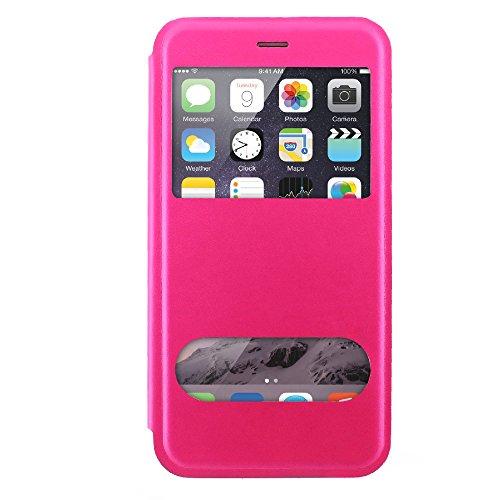 Ultraflache weiche Schutzhülle APPLE IPHONE 6 PLUS [Le X Premium] [Schwarz] von MUZZANO + 3 Display-Schutzfolien UltraClear + STIFT und MICROFASERTUCH MUZZANO® GRATIS - Das ULTIMATIVE, ELEGANTE UND LA Pink