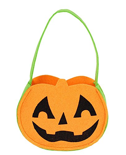 Set von 3 Halloween Kinder Kürbis Trick oder Behandlung von Candy Bag