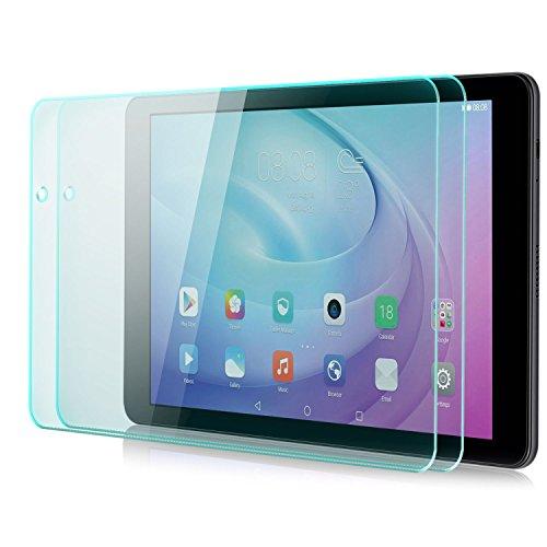Saxonia zanasta 2 Stück Bildschirmschutz Glas kompatibel mit Huawei MediaPad T2 10.0 Pro Folie aus Gehärtetem Glass (9H Härtegrad) | Klar Transparent