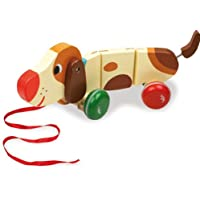 "Vilac Vilac4606 ""Basile"" The Dog Pull Toy by Melusine"