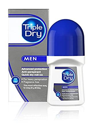 Triple Dry Men 72 hours Advanced Protection Anti-Perspirant Quick Dry Roll-On 50ml
