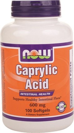 NOW Foods Caprylic Acid 600 mg-100 Softgels