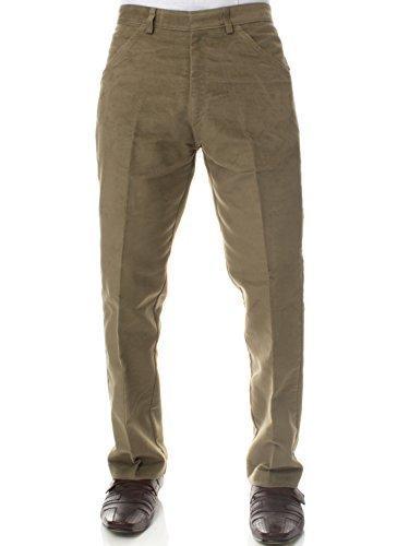 Carabou Country Wear Classics Herren Moleskin Jagd Wandern Fischen Trekkinghose - Lovat (Beige), W36 x (Kostüme Männer Fisch Für)