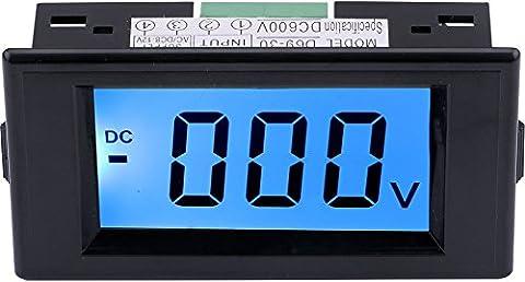 Yeeco DC 0-600V LCD Afficher Numérique Voltmètre Tension Mètre Jauge Source de courant AC / DC 8-12V Tension Mesurer Volt Panneau Mètre Essai