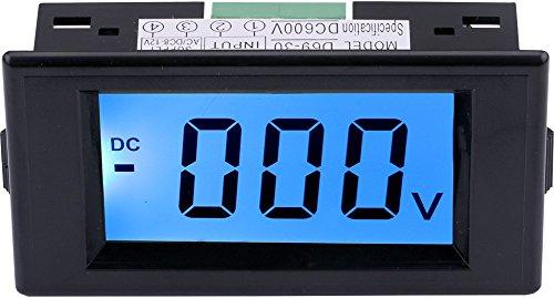 Yeeco DC 0-600V LCD Anzeigen Digital Voltmeter Stromspannung Meter Spur Energieversorgung AC / DC 8-12V Stromspannung Messen Volt Verkleidung Meter Testen