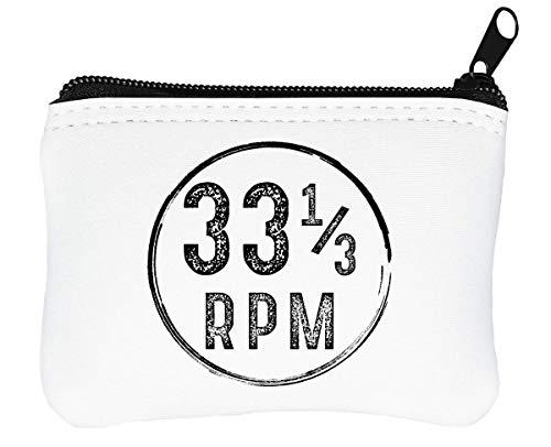 Vinyl 33 RPM Design Reißverschluss-Geldbörse Brieftasche Geldbörse