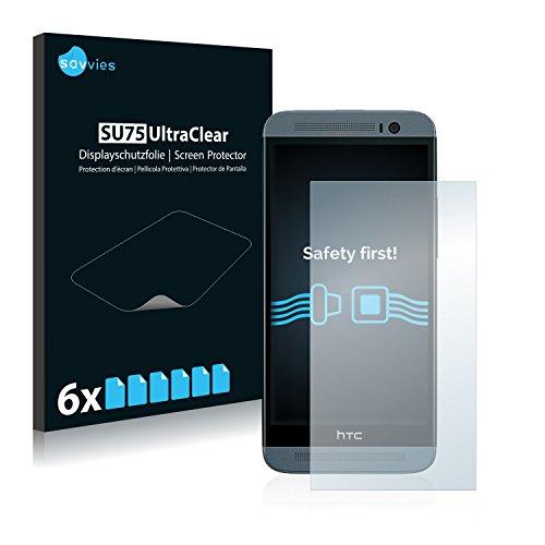 Savvies Schutzfolie für HTC One E8 [6er Pack] - klarer Displayschutz