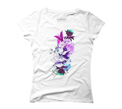 Flowers I Women's Graphic T-Shirt - Design By Humans White