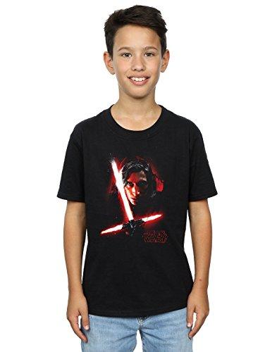 Star Wars niños The Last Jedi Kylo REN Brushed Camiseta 5-6 Years Negro