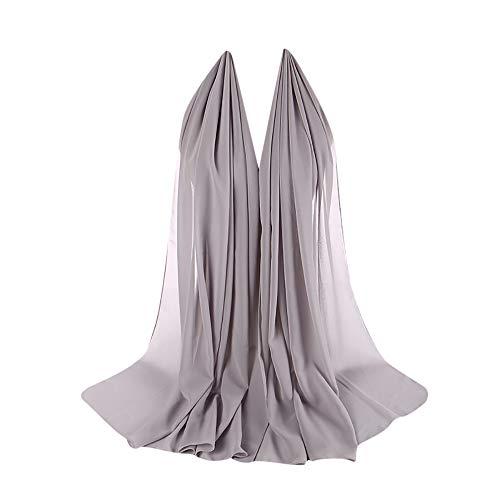Bubble Wrap Kleid (BESSKY Women Plain Bubble Chiffon Scarf Hijab Wrap Printe Shawls Headband Muslim Hijabs Frauen Chiffon Bubble Cloth Schal Pearl Muslim Scarf Hood)