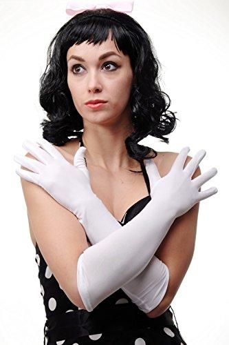 DRESS ME UP - Karneval Fasching Handschuhe Damenhandschuhe lang weiß Oper Ball DWS-019-WHITE (High Society Kostüm)