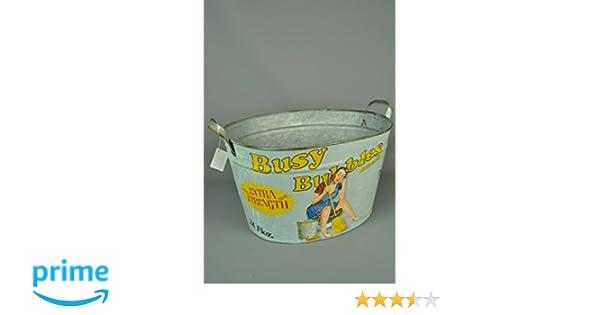 Metal Retro wash and rinse washing basket bucket trug laundry utility room Four Seasons