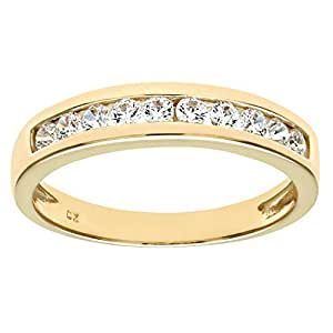 Citerna 9 ct Yellow Gold Eternity Ring with Channel Set Cubic Zirconia