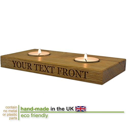 personalised-solid-oak-wooden-duo-tealight-candle-holder-with-side-engraving
