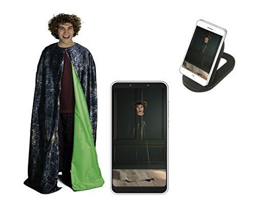 Kostüm Harry Quidditch Potter - Dickie Toys 209454002 Tarnumhang, Umhang unsichtbar Machen mit App, Zauberumhang, Heiligtümer des Todes, Harry Potter Kostüm, Mehrfarbig