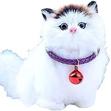 RoBlue collar para mascotas con Bell Color Pure en tejido