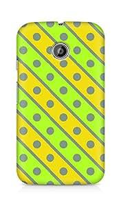Amez designer printed 3d premium high quality back case cover for Motorola Moto E (Geometric Bright Pattern4)