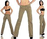 Replay Chino Damen Jeans Hose Bootcut WV515 .034 8565.401 Khaki W27/L34