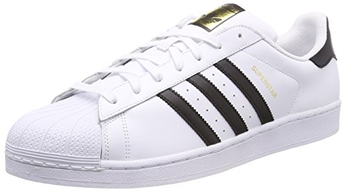 adidas Herren Superstar Fitnessschuhe, Weiß (Ftwbla/Negbas 000), 54 EU -
