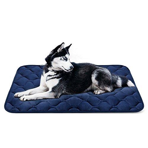 Weiche Hundebett Große Hunde Luxuriöse Hundedecken Waschbar Orthopädisches Hundekissen Rutschfeste Hundematte Blau Grosse HeroDog