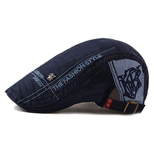 Adantico Unisex de la Boina Sombrero Azul