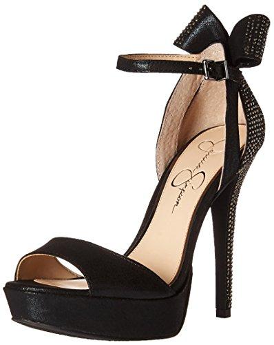 Sandalias de cu?a Jadyn para mujer Jessica Simpson, color negro, 10 M US