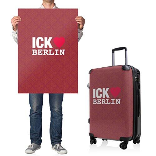"""HAUPTSTADTKOFFER® · Hartschalenkoffer Koffer Trolley Reisekoffer Hartschale · Serie """"Style"""" (Eule Strand Sonnenschirm) Ick liebe Berlin"""