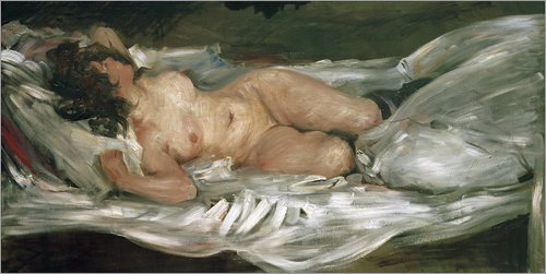 Reproduction sur toile 120 x 60 cm: Reclining Nude de Lovis Corinth / akg-images - Reproduction prête à accrocher, toile sur châssis, image sur toile véritable prête à accrocher, reproduction sur t...