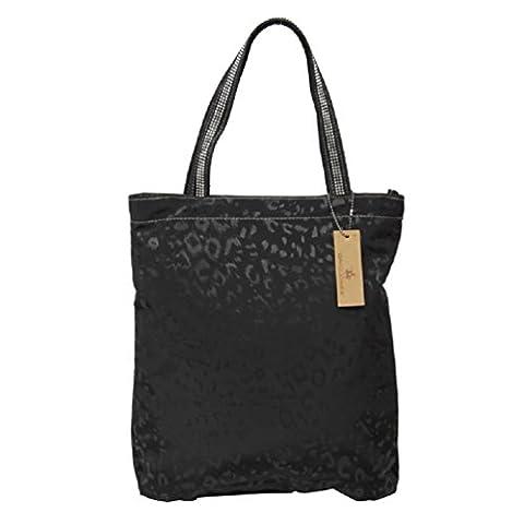 Glanz Schultertasche in schwarz Leo Strass Shopper Bag Handtasche Tasche von David Jones