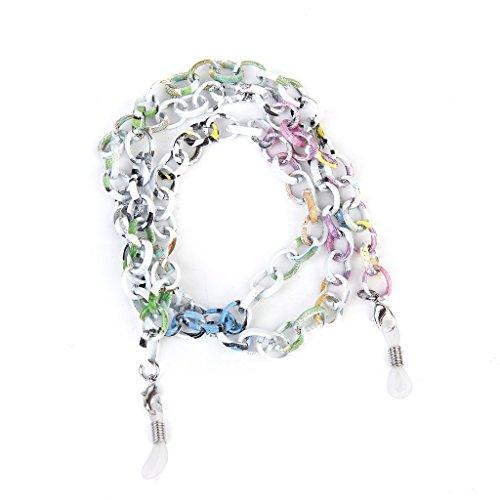 Vektenxi Aluminium Brillen/Sonnenbrillen/Brillen/Brillen Kette Halter Halskette Schnur 70CM - Bunte langlebig und praktisch